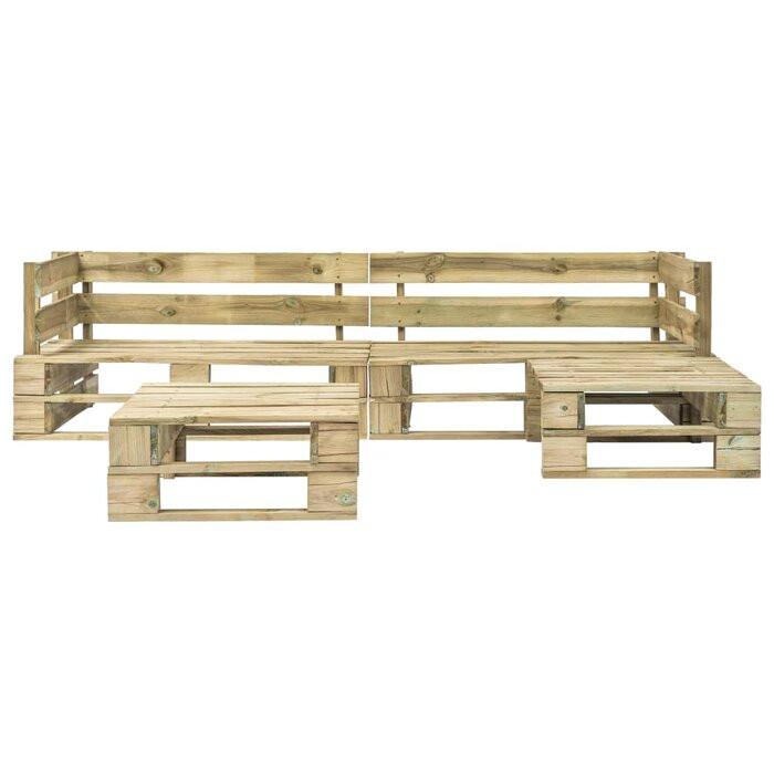 Set lounge, 1 canapea si 1 masa, lemn masiv, bej 2021 chilipirul-zilei.ro