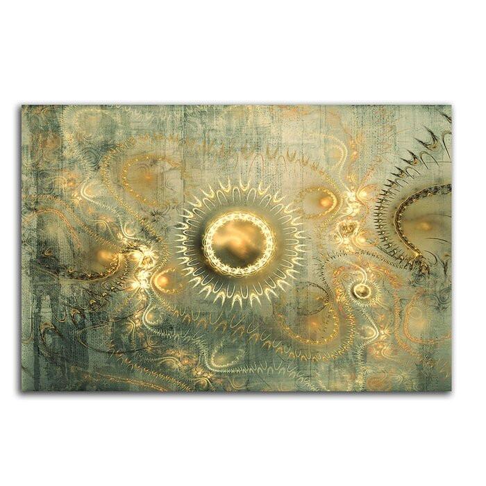 "Tablou ""Abstrakt 353"", panza/lemn, 80 x 120 x 2 cm poza chilipirul-zilei.ro"
