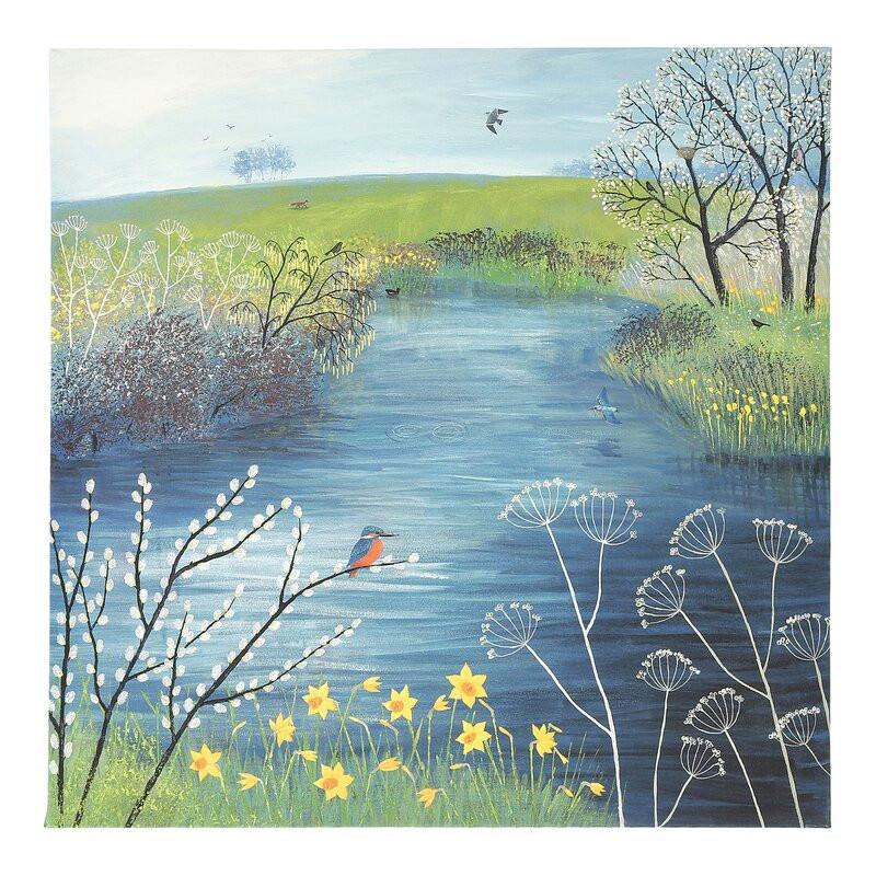 Tablou canvas Spring at Kingfisher Pool, 85 x 85cm poza chilipirul-zilei.ro