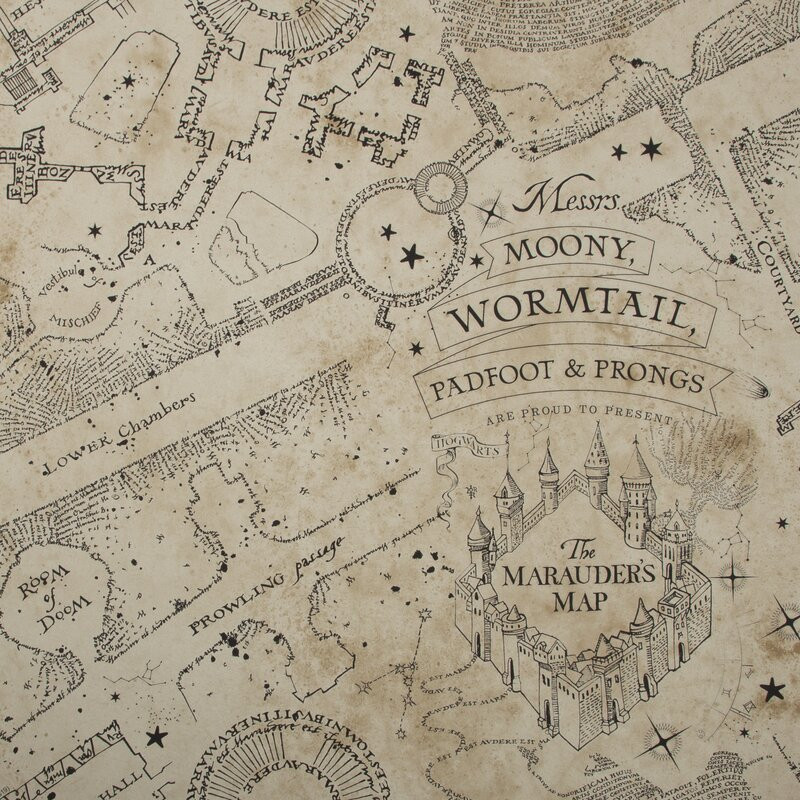 Tapet Hogwarts Map, 1000cm x 52cm poza chilipirul-zilei.ro
