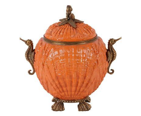 Vas Shell, ceramică/ bronz, 16 x 22 x 22 cm