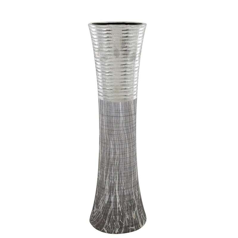 Vaza Malone din ceramica, gri / argintiu chilipirul-zilei.ro