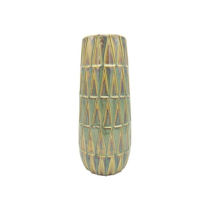 Vaza Nomad, ceramica, verde, 33 x 14 x 14 cm imagine chilipirul-zilei.ro