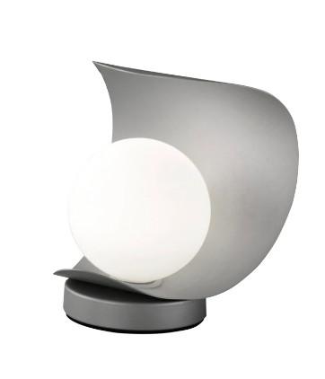 Veioza Adria, LED, metal/sticla, gri, 16 x 18 x 14 cm imagine