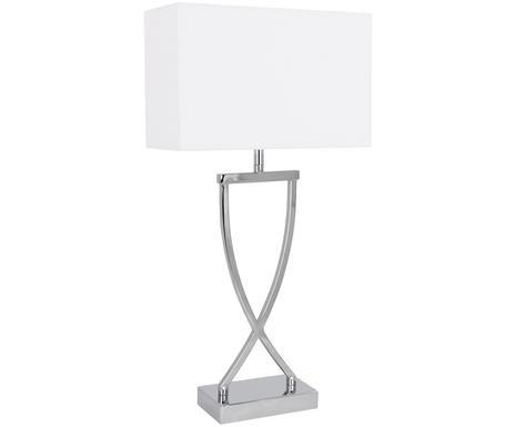 Veioza Vanessa alb/argintiu, metal/textile, H 52 cm, 40 W