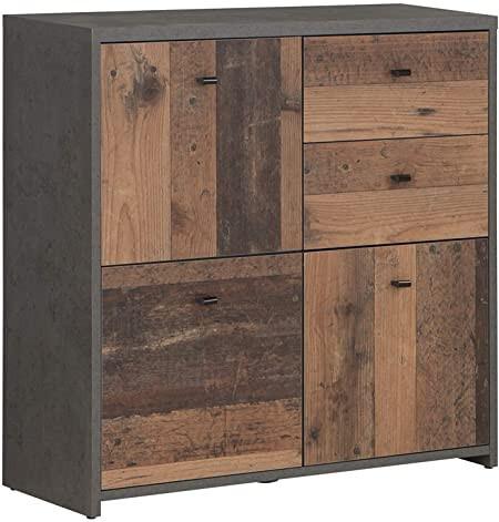 Comoda Legrand aspect beton / Old Wood Vintage
