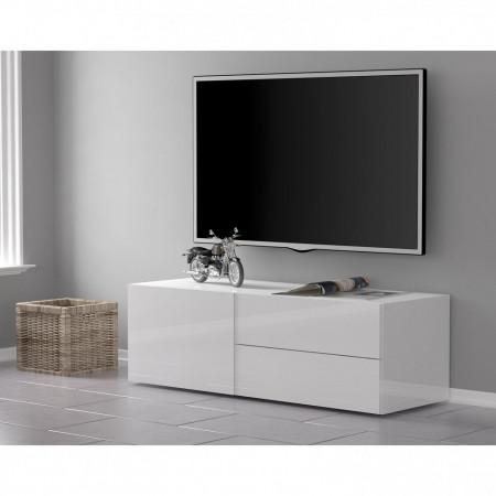 Comoda TV Penola I Pal, alba, 110 x 35 x 40 cm