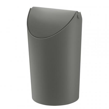 Cos de gunoi Jim plastic, gri, diametru 17,5 cm