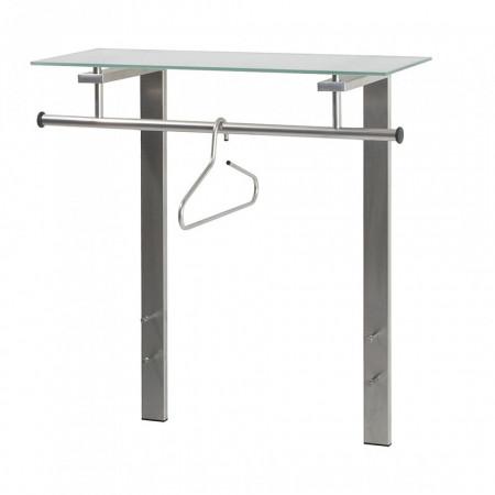 Cuier Reenvard metal/sticla, argintiu, 80 x 90 x 33 cm