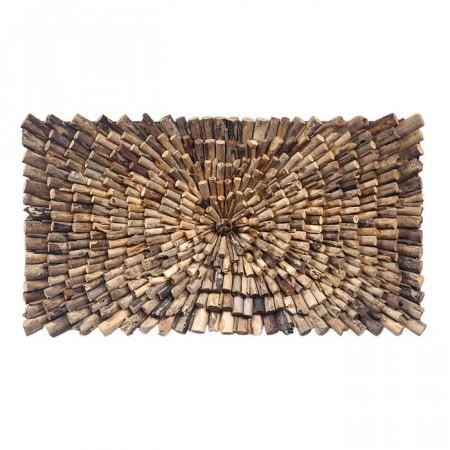 Decor de perete, lemn, maro, 70 x 14 cm