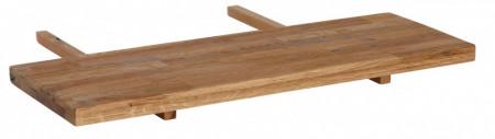 Extensie de masa Marianne, lemn masiv de stejar salbatic, maro, 90 x 4 x 40 cm
