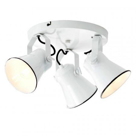 Lustra Croft I fier, alb, 3 becuri, 230 V