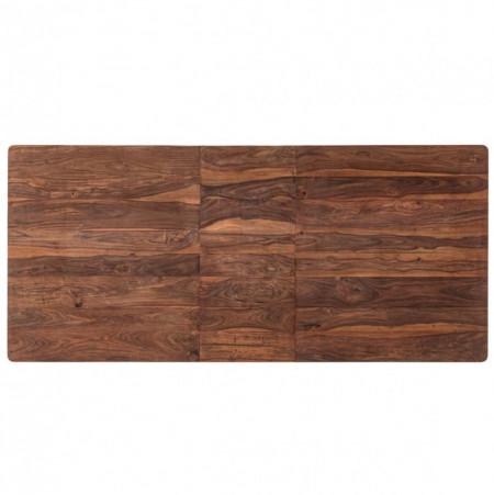 Masa extensibila Trangle din lemn masiv de sheesham, maro, 160 x 76 x 90 cm