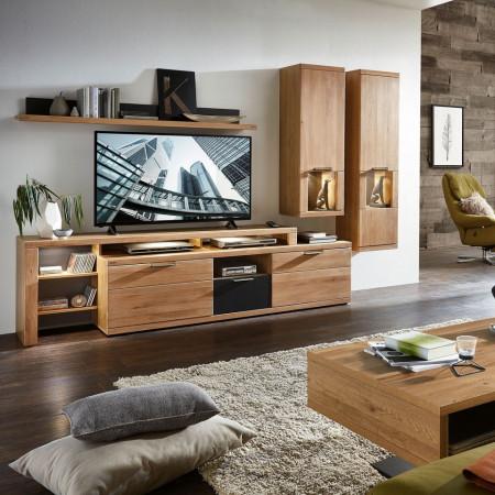Mobilier pentru living Macoun - 5 piese - lemn masiv stejar