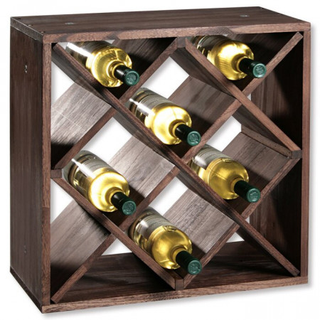 Raft pentru vin, 20 sticle, 25 x 50 x 50 cm