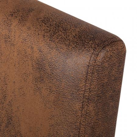 Set de 2 scaune Laurel, tesatura, maro antichizat