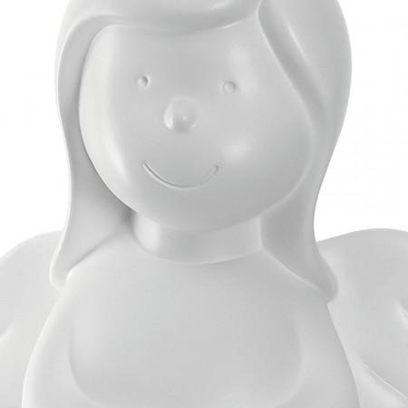 Statueta ingeras Marie I, ceramica alba