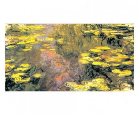 Tablou pe MDF Ninfee, 140x73 cm