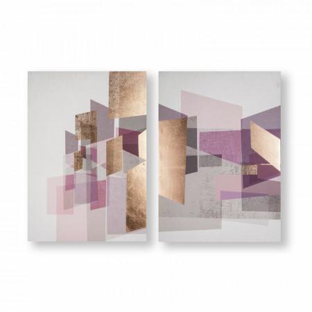 Tablou 'Rose Gold Geos', 70 x 100 cm