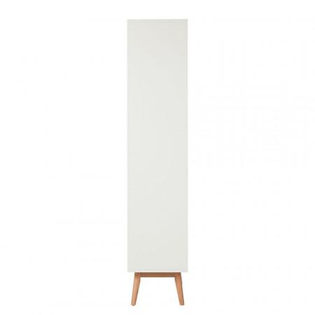 Vitrina Lindholm MDF/stejar, alb, 80 x 190 x 40 cm