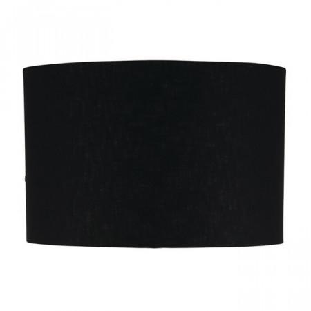 Abajur, bumbac, negru, 23 x 40 x 40 cm
