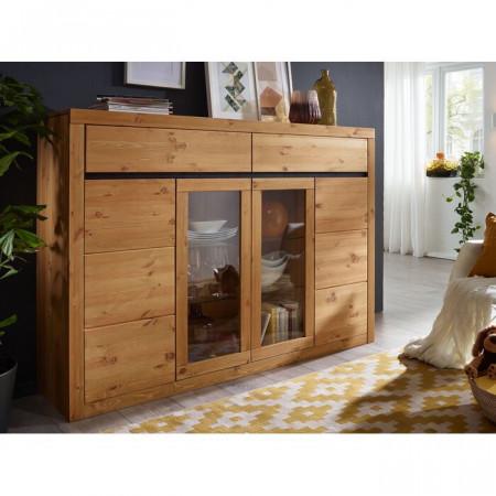 Bufet Houk, lemn, maro, 125 x 177 x 42 cm