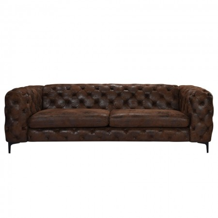 Canapea cu 3 locuri Leominster II, microfibra, maro