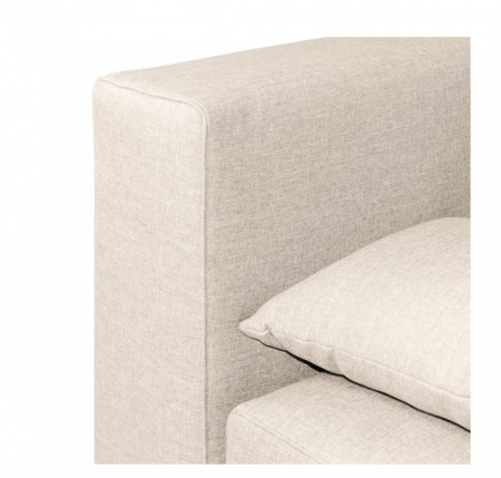 Canapea extensibila cu arcuri boxspring Dingo tesatura/lemn, crem, 202 x 85 x 110 cm