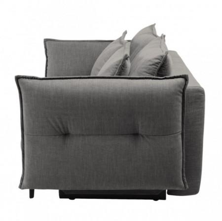 Canapea extensibila Golm din tesatura/metal, gri deschis, 224 x 101 x 109 cm