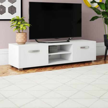 "Comoda TV 60 "" Blakely, alb, 140 x 34 cm"