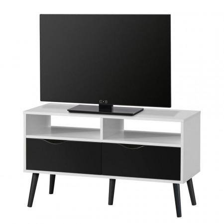 Comoda TV Sunndal III, alb/negru