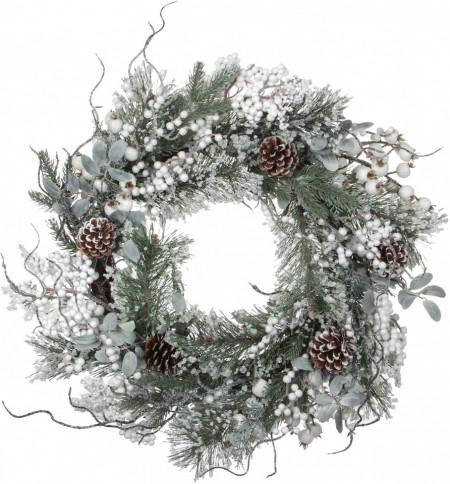 Coroană de Crăciun artificială Hailey, d. 50 cm