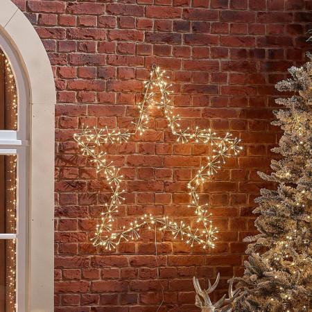 Decoratiune luminoasa de exterior, Star, 110m
