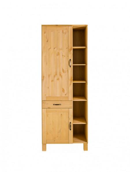 Dulap Alby din lemn masiv de pin/metal, maro, 75 x 60 x 205 cm