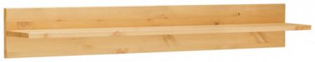 Etajera Oslo din lemn masiv de pin, maro, 100 x 14 x 14 cm