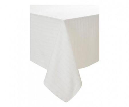 Față de masă Loveli din bumbac, alb, 200x145 cm