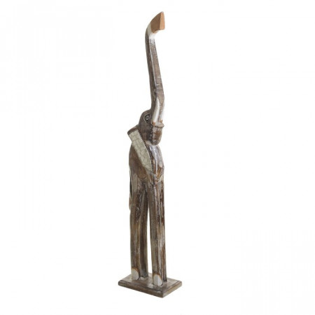 Figurina elefant, lemn, bej, 100 x 11 x 19 cm