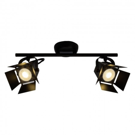 Lustra LED Movie metal, negru, 2 becuri, 240 V