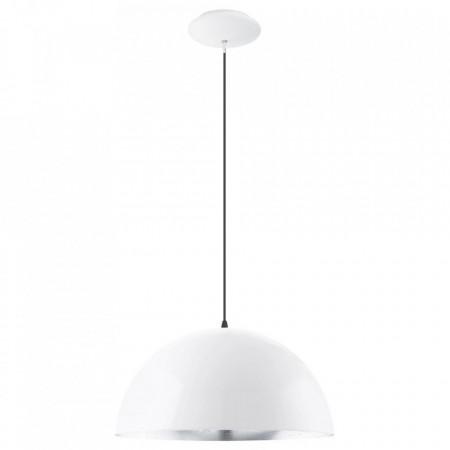 Lustra tip pendul Gaetano I otel, alb, diametru 38 cm , 1 bec, 230 V