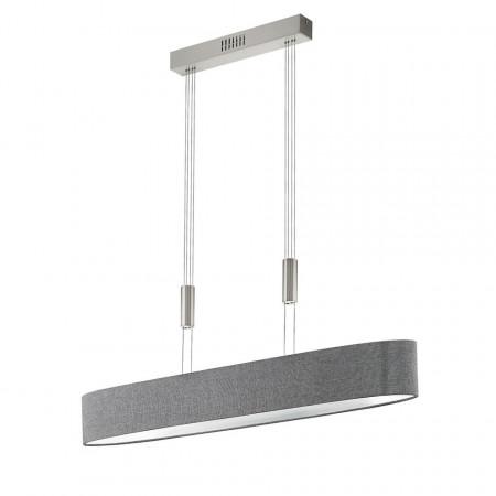 Lustra tip pendul LED Romao II - tesatura/otel