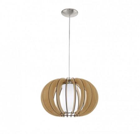 Lustra tip pendul Stellato sticla/lemn, maro, 1 bec, diametru 40 cm, 230 V