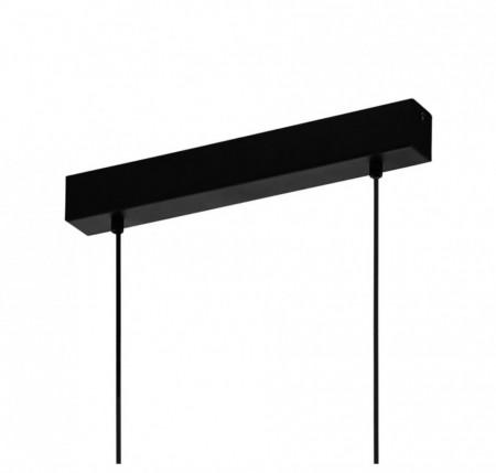 Lustra tip pendul Townshend I otel/lemn, negru, 4 becuri, 240 V