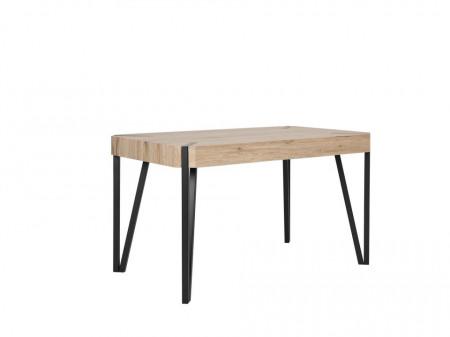 Masa CAMBELL, MDF/metal, maro/neagra, 75 x 80 x 130 cm