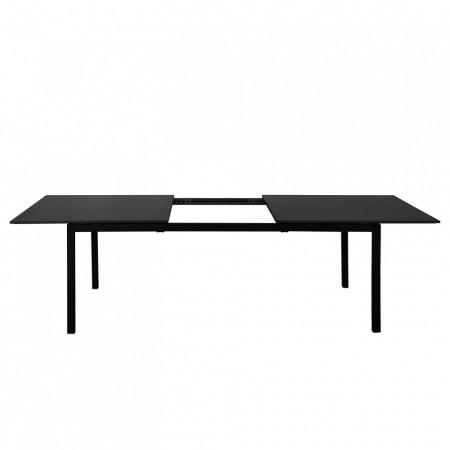 Masa extensibila Grigio, MDF/fier, negru, 220-260cm