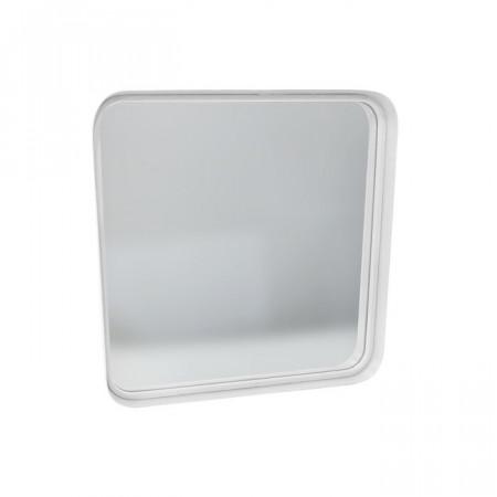 Oglinda Vogue, metal, alba, 51 x 51 x 5 cm