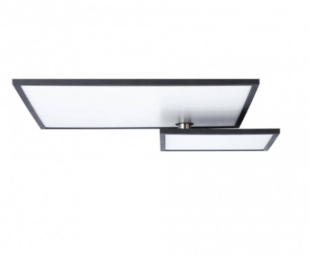 Plafoniera LED Bility II sticla acrilica / aluminiu, 1 bec, negru, 230 V