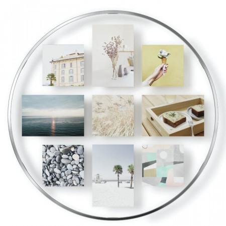 Rama foto, metal, alb, 51,61 x 51,61 x 1,347 cm