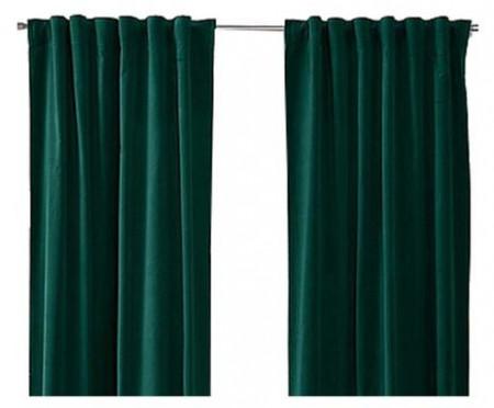 Set de 2 draperii Sammie verde, 105x300 cm
