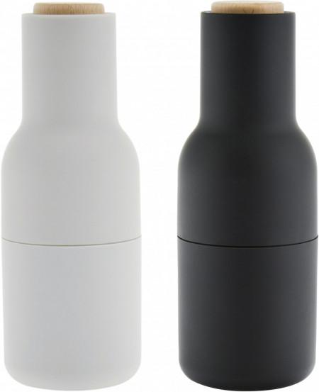 Set de 2 rasnite pentru condimente, gri/antracit, 8 x 21 cm