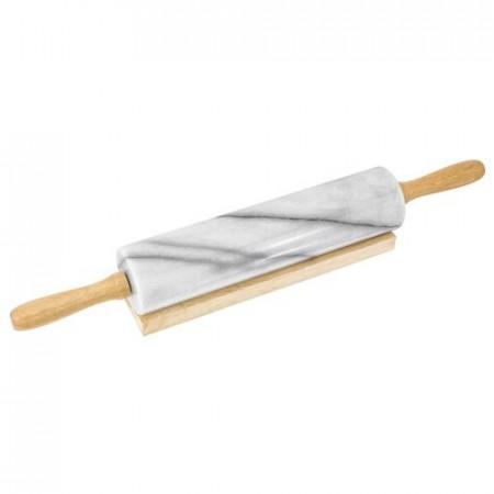 Sucitor Judge H350 cu suport, 47X6 cm, lemn si marmura, alb/ gri